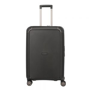 Titan Compax 4 Wiel Trolley M Expandable black Harde Koffer