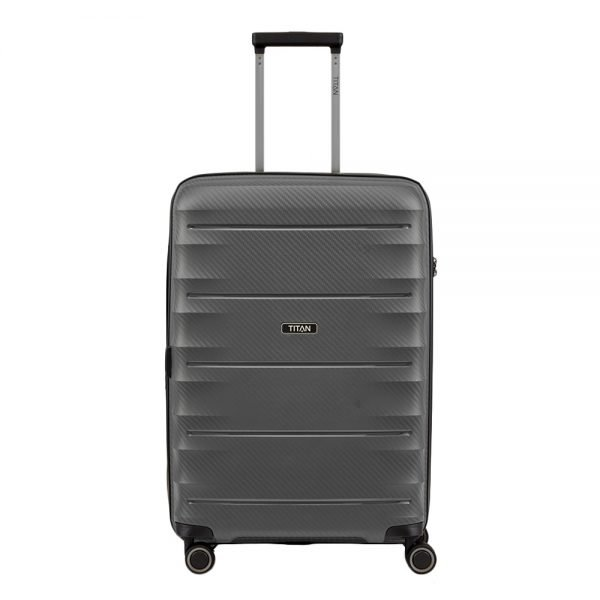 Titan Highlight 4 Wiel Trolley M Expandable anthracite Harde Koffer