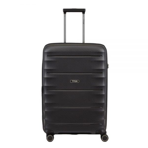 Titan Highlight 4 Wiel Trolley M Expandable black Harde Koffer