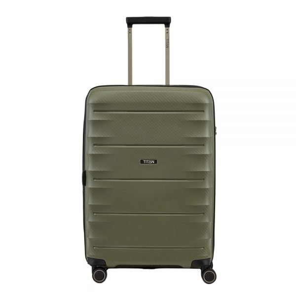 Titan Highlight 4 Wiel Trolley M Expandable khaki Harde Koffer