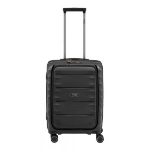 Titan Highlight 4 Wiel Trolley S Front Pocket black Harde Koffer
