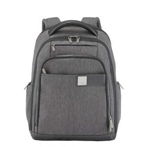 """Titan Power Pack 15"""" Laptop Backpack expandable mixed grey backpack"""