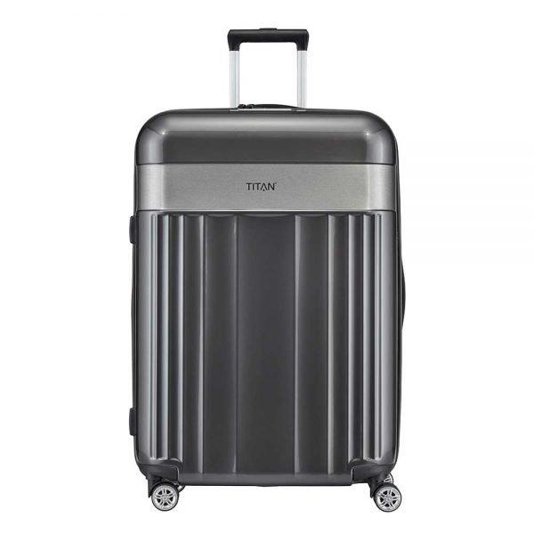 Titan Spotlight Flash 4 Wiel Trolley L antracite Harde Koffer
