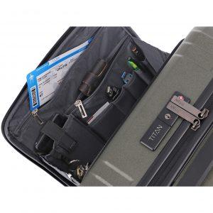 Titan X-Ray Pro 4 Wiel Trolley S USB Front Pocket atomic steel Harde Koffer