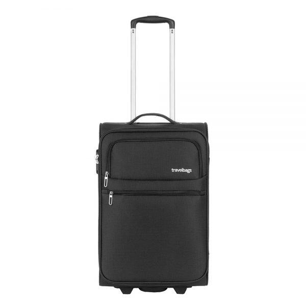 Travelbags Lissabon Handbagage koffer - 55 cm - 2 wielen - black Zachte koffer