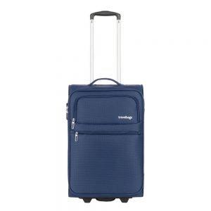 Travelbags Lissabon Handbagage koffer - 55 cm - 2 wielen - dark navy Zachte koffer