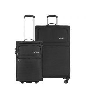 Travelbags Lissabon Kofferset - 2 delig - 55 cm 2 wiel + 77 cm 4 wiel - black