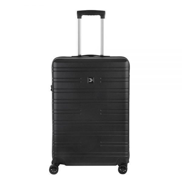 Travelbags Premium Koffer - 64 cm - 4 wielen - black Harde Koffer