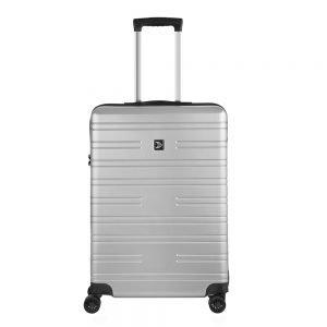Travelbags Premium Koffer - 64 cm - 4 wielen - silver Harde Koffer