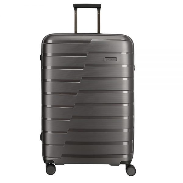 Travelite Air Base 4 Wiel Trolley L anthracite Harde Koffer