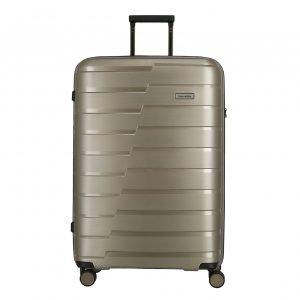 Travelite Air Base 4 Wiel Trolley L champagne metallic Harde Koffer