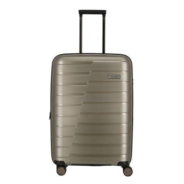 Travelite Air Base 4 Wiel Trolley M Expandable champagne metallic Harde Koffer