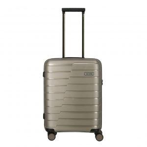 Travelite Air Base 4 Wiel Trolley S champagne metallic Harde Koffer