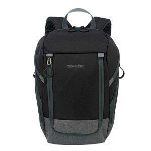 Travelite Basics Backpack black / grey backpack