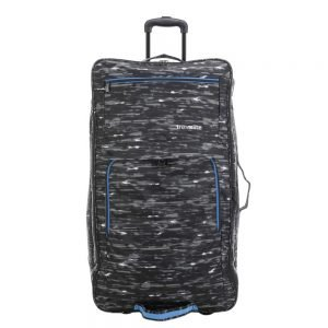 Travelite Basics Doubledecker Duffle black print Trolley Reistas