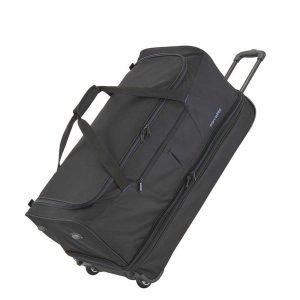 Travelite Basics Wheeled Duffle 55 Expandable black / blue Handbagage koffer Trolley