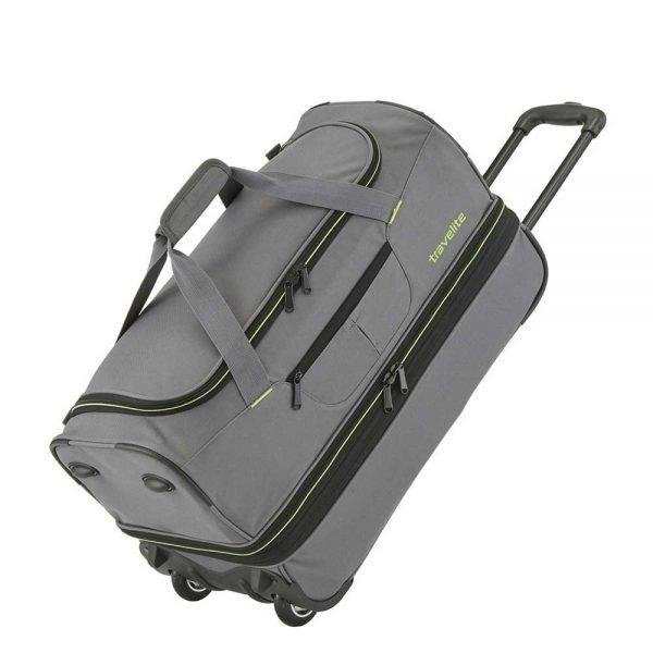 Travelite Basics Wheeled Duffle 55 Expandable grey / green Handbagage koffer Trolley