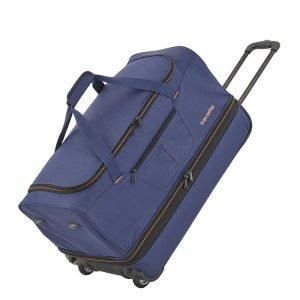 Travelite Basics Wheeled Duffle 55 Expandable marine / orange Handbagage koffer Trolley