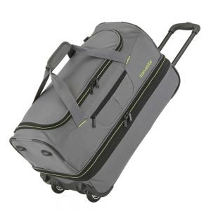 Travelite Basics Wheeled Duffle 70 Expandable grey / green Trolley Reistas