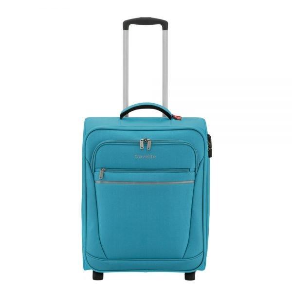 Travelite Cabin 2 Wiel Boardtrolley turquoise Zachte koffer