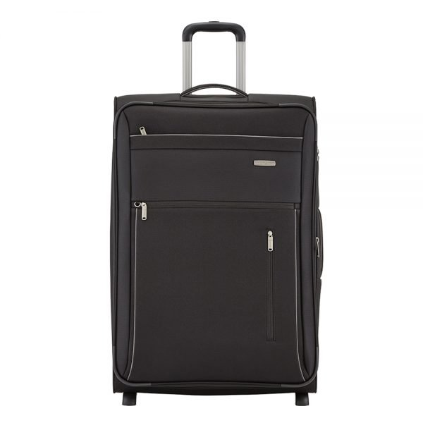Travelite Capri 2 Wiel Trolley L Expandable black Zachte koffer
