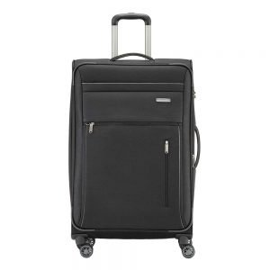 Travelite Capri 4 Wiel Trolley L Expandable black Zachte koffer