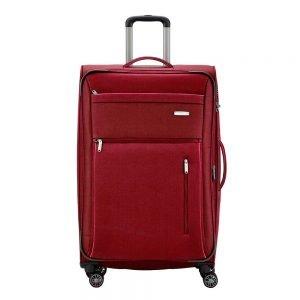 Travelite Capri 4 Wiel Trolley L Expandable red Zachte koffer