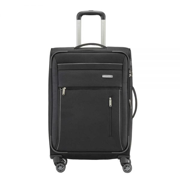 Travelite Capri 4 Wiel Trolley M Expandable black Zachte koffer