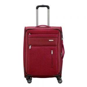 Travelite Capri 4 Wiel Trolley M Expandable red Zachte koffer