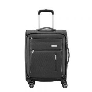 Travelite Capri 4 Wiel Trolley S black Zachte koffer
