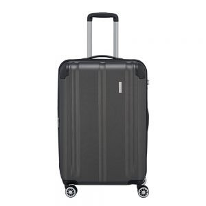 Travelite City 4 Wiel Trolley M Expandable antraciet Harde Koffer