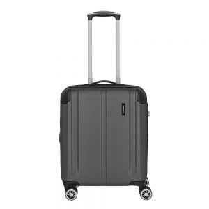 Travelite City 4 Wiel Trolley S Expandable anthracite Harde Koffer