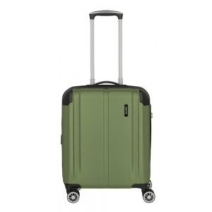 Travelite City 4 Wiel Trolley S Expandable green Harde Koffer
