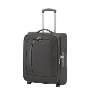 Travelite Crosslite 2 Wiel Trolley S exp black Zachte koffer