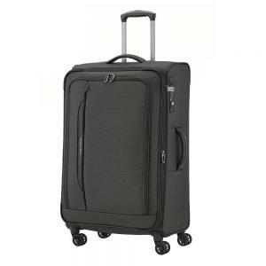 Travelite Crosslite 4 Wiel Trolley L exp black Zachte koffer