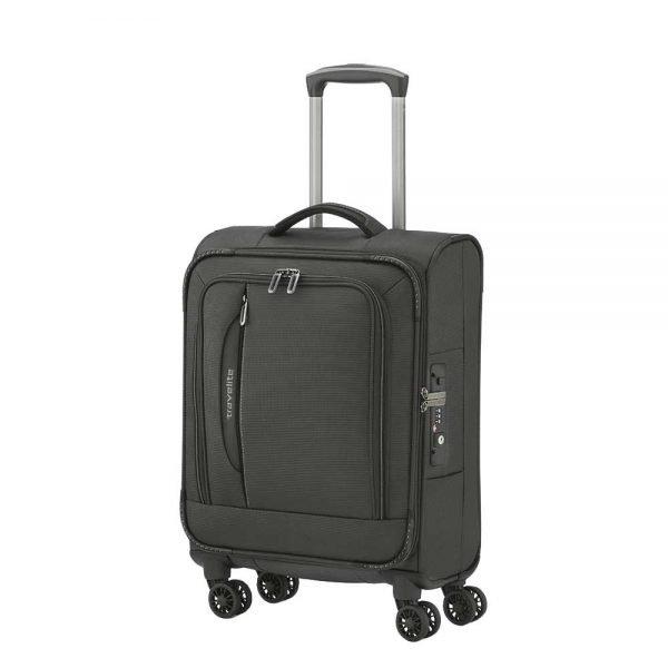 Travelite Crosslite 4 Wiel Trolley S black Zachte koffer