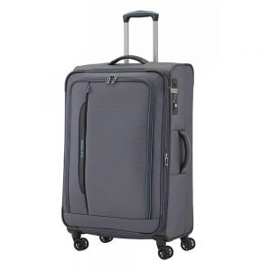 Travelite Crosslite 4 Wiel trolley L exp anthracite Zachte koffer