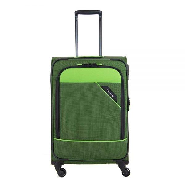 Travelite Derby 4 Wiel Trolley 66 Expandable green Zachte koffer