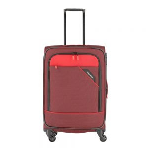Travelite Derby 4 Wiel Trolley 66 Expandable red twotone Zachte koffer