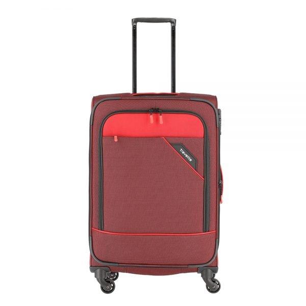 Travelite Derby 4 Wiel Trolley 66 Expandable red twotone Zachte koffer