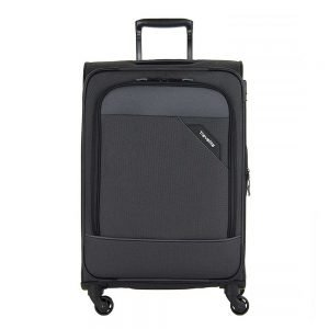 Travelite Derby 4 Wiel Trolley 77 Expandable anthracite Zachte koffer
