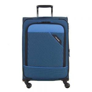 Travelite Derby 4 Wiel Trolley 77 Expandable blue Zachte koffer