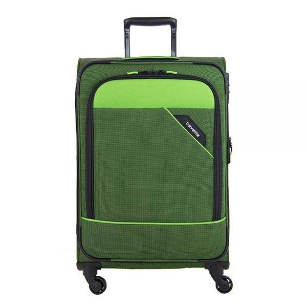 Travelite Derby 4 Wiel Trolley 77 Expandable green Zachte koffer