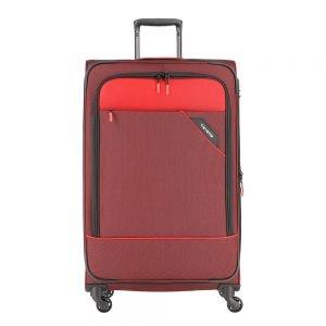 Travelite Derby 4 Wiel Trolley 77 Expandable red twotone Zachte koffer