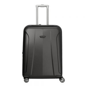 Travelite Elbe 4 Wiel Trolley M Expandable anthracite Harde Koffer