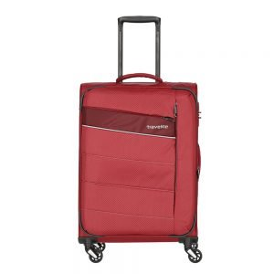 Travelite Kite 4 Wiel Trolley M Expandable red Zachte koffer