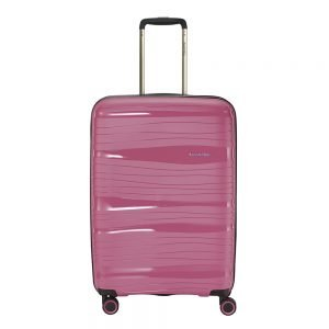 Travelite Motion 4w Trolley M expandable rose Harde Koffer