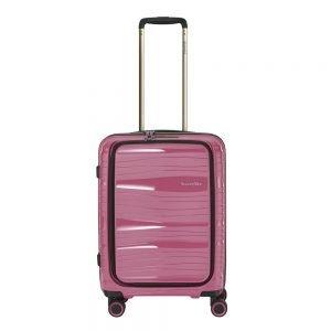 Travelite Motion 4w Trolley S Frontpocket rose Harde Koffer