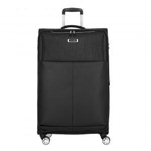 Travelite Proof 4 Wiel Trolley L Expandable black Zachte koffer