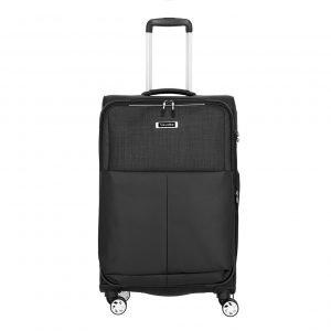 Travelite Proof 4 Wiel Trolley M Expandable black Zachte koffer